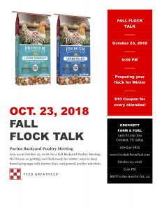 Fall Flock Talk