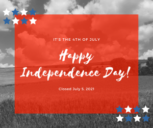 Happy Independence Day, Crockett Farm and fuel is closed in observance July 5th, 2021